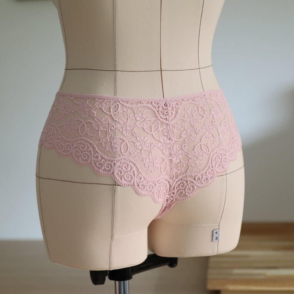 Boxer-String rosa Ansicht hinten