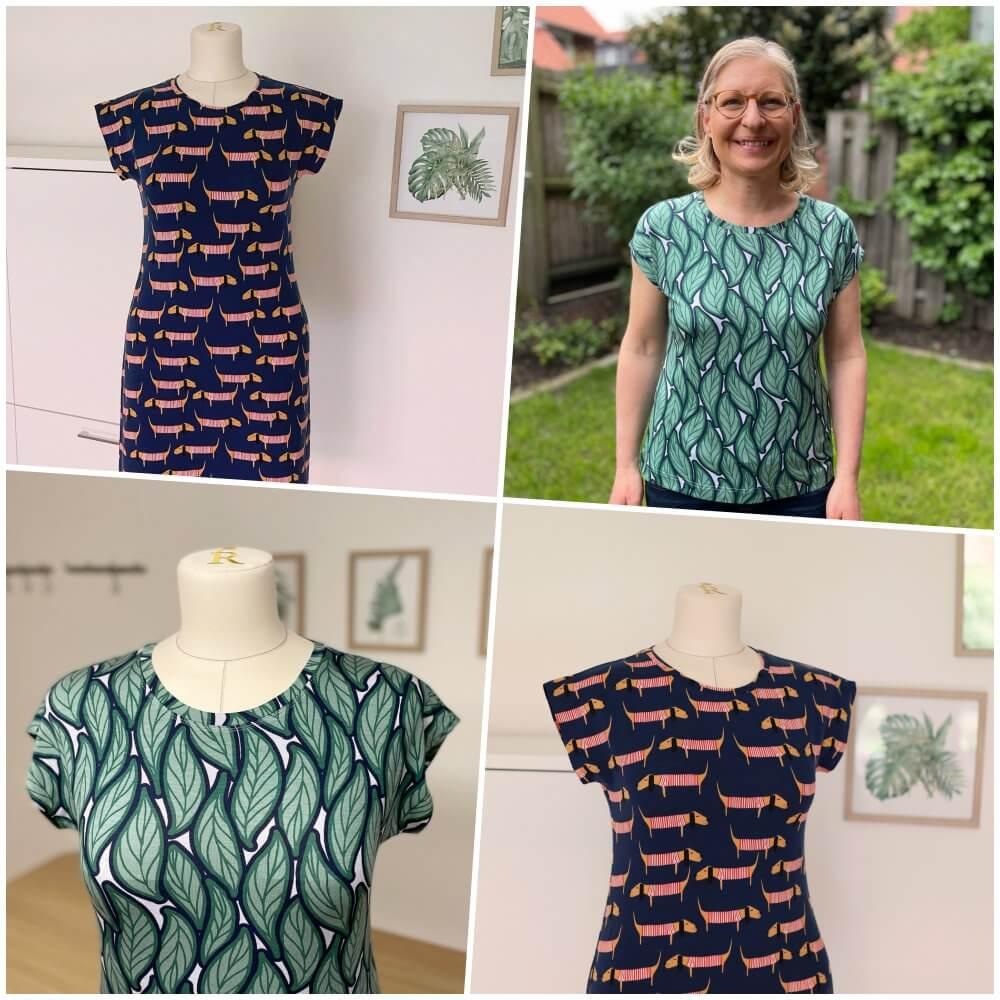 einfaches Jerseykleid oder Shirt nähen